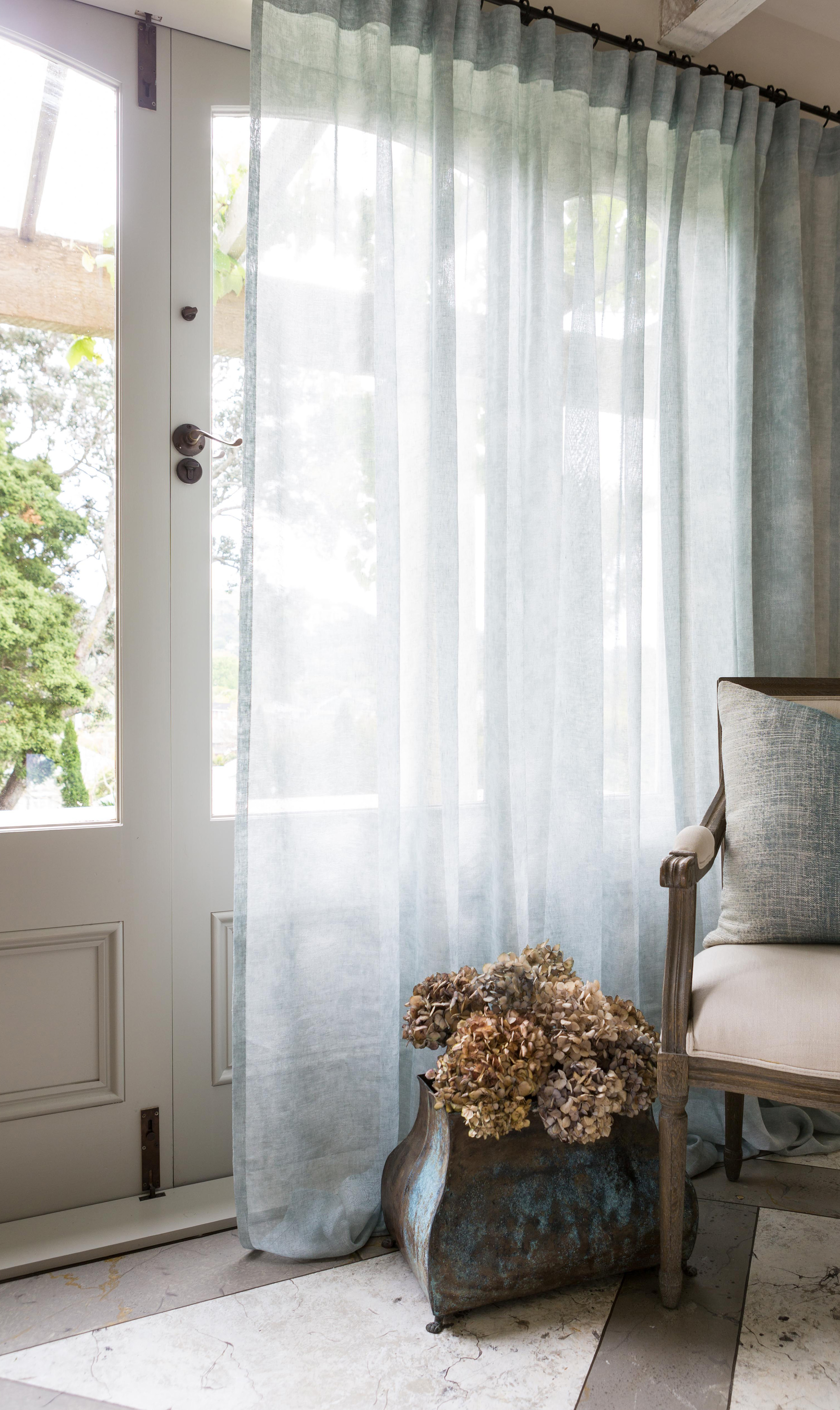 By extending the Curtain Track 10% of the window width either side of the window, when the Curtain is open it will stack onto the wall and not encroach over ...